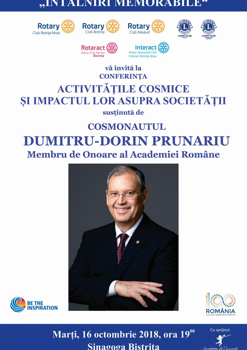 Întâlniri memorabile: cosmonautul Dumitru-Dorin Prunariu