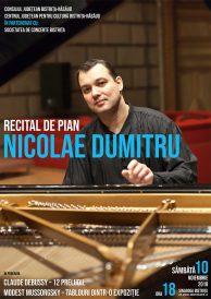 Recital de pian susținut de Nicolae Dumitru