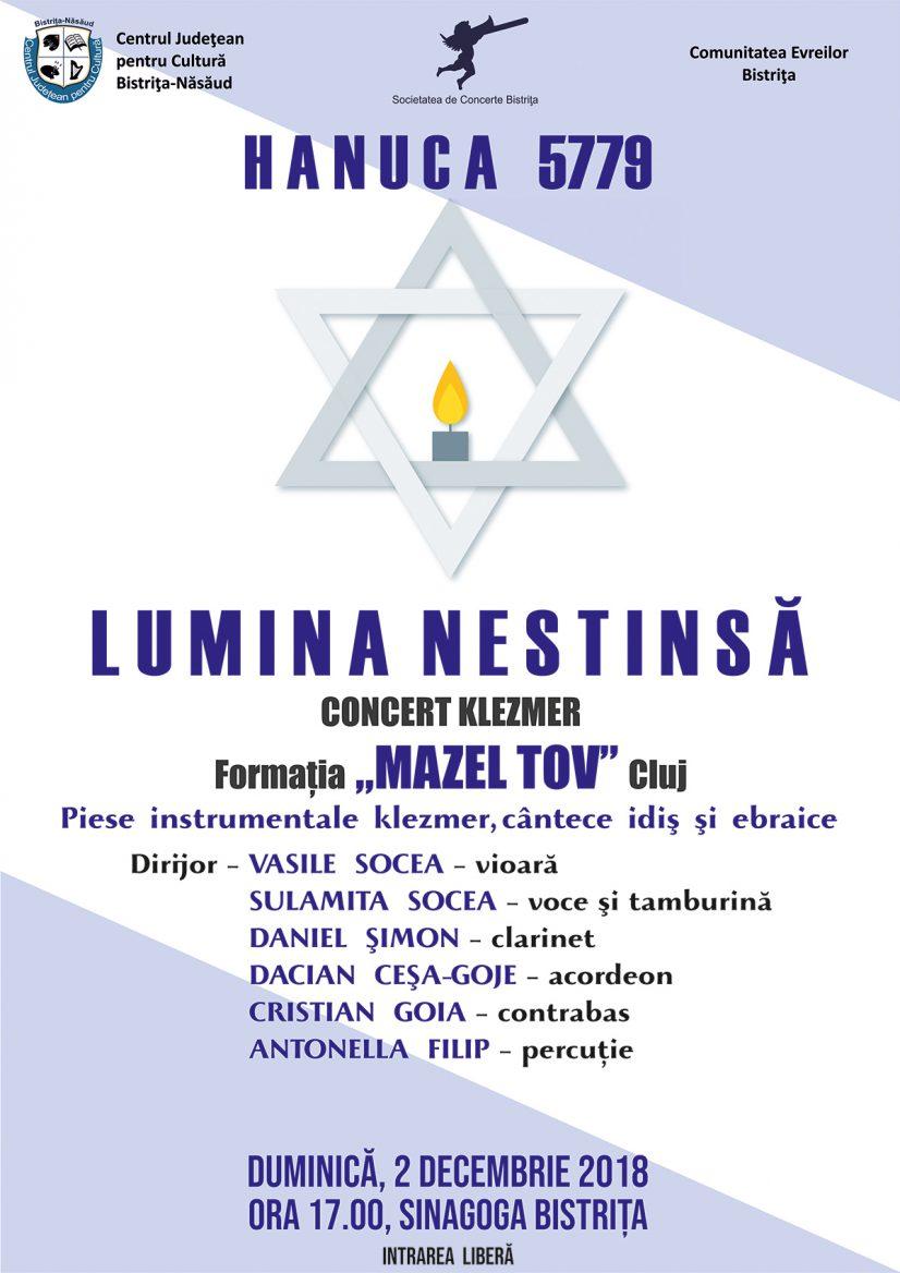 Concert de Hanuca 5779: Lumina nestinsă