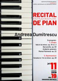 Recital extraordinar de pian susținut de Andreea Dumitrescu