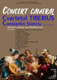 Seară Ludwig van Beethoven susținută de Cvartetul Tiberius și Constantin Stanciu