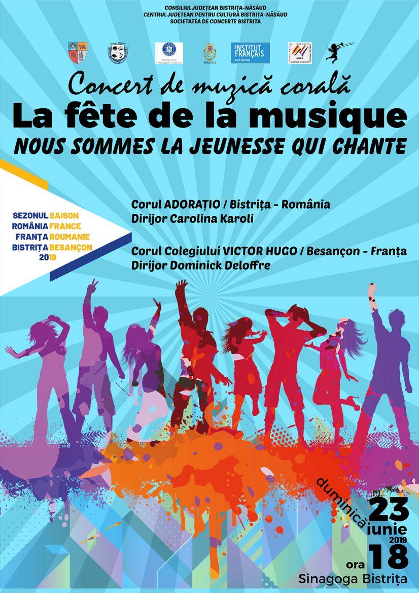 Concert de muzică corală: La fête de la musique – Nous Sommes la Jeunesse Qui Chante