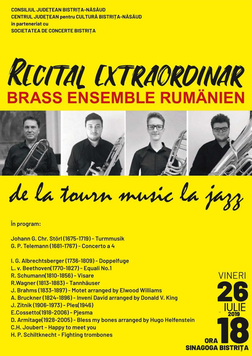 Recital Extraordinar BRASS ENSEMBLE RUMÄNIEN de la tourn music la jazz