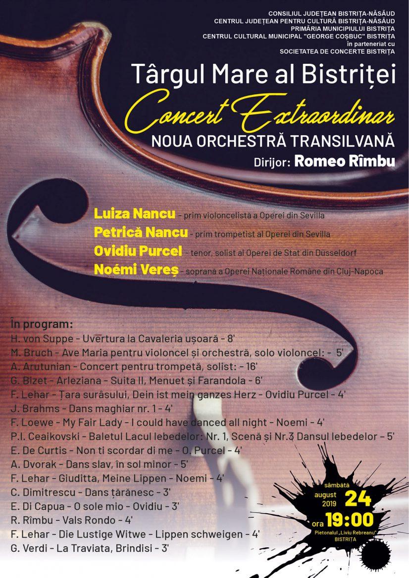 Concert Extraordinar: NOUA ORCHESTRĂ TRANSILVANĂ la Târgul Mare al Bistriței