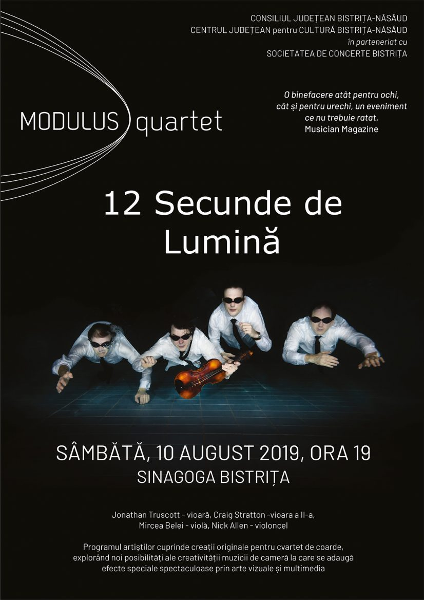 Concert Modulus quartet – 12 secunde de lumină