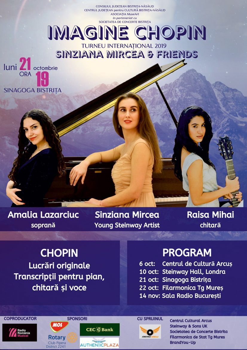 "TURNEUL INTERNAȚIONAL ""IMAGINE CHOPIN"" 2019 – Sînziana Mircea & friends"