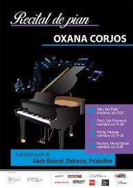 Turneu naţional de recitaluri al pianistei Oxana Corjos