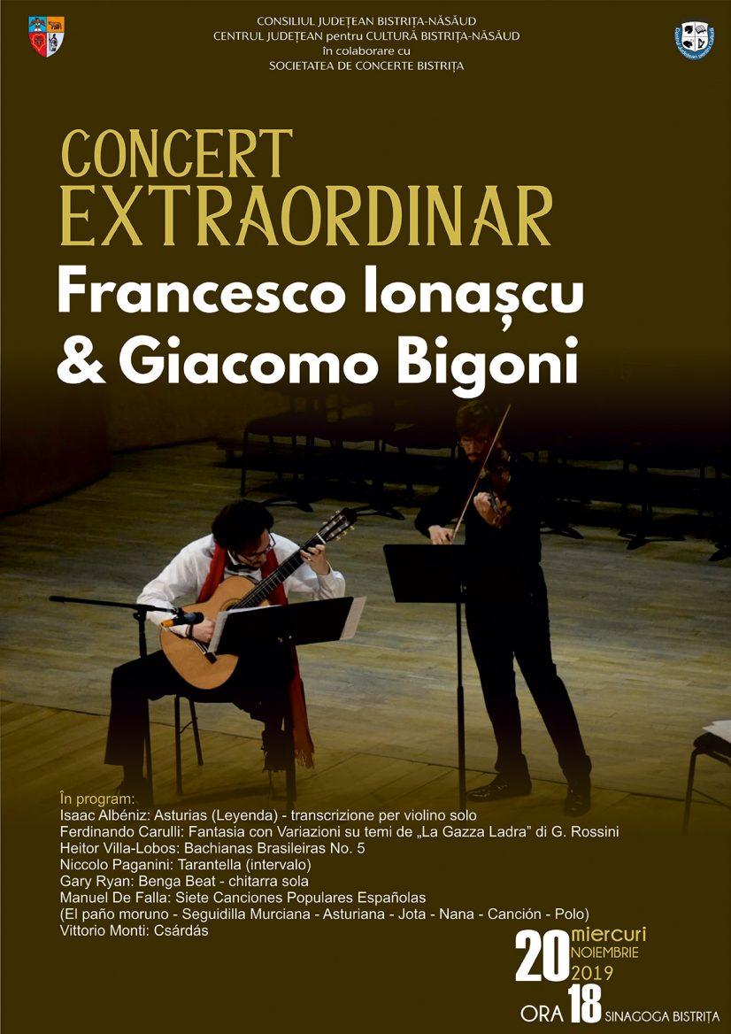CONCERT EXTRAORDINAR Francesco Ionașcu & Giacomo Bigoni