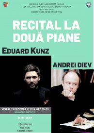 Recital extraordinar la două piane: Eduard Kunz și Andrei Diev