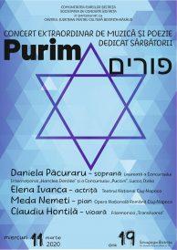 Concert extraordinar de muzică și poezie dedicat sărbătorii Purim