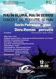 Concert de pian și percuție: MAI ÎN GLUMĂ, MAI ÎN SERIOS