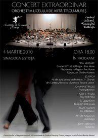 Concert extraordinar: Orchestra Liceului de Arta Targu-Mures