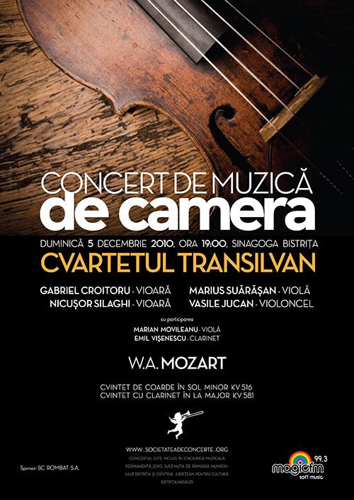Concert de muzica de camera – Cvartetul Transilvan