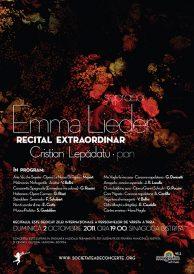 Recital extraordinar: soprana Emma Lieder si Cristian Lepadatu la pian