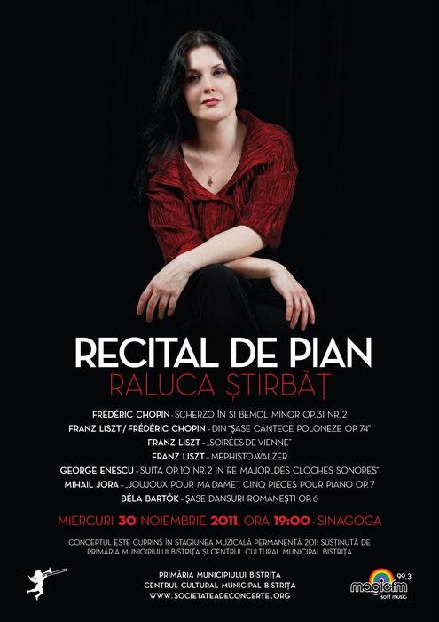Recital de pian: Raluca Ştirbãţ