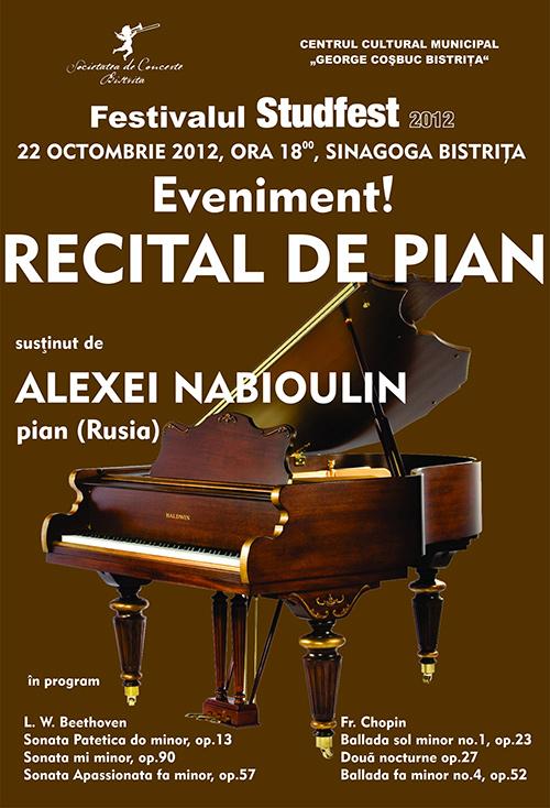 Recital de pian sustinut de Alexei Nabioulin (Rusia)