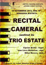 Recital cameral sustinut de Trio Estate