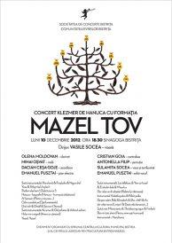 "Concert klezmer de Hanuca cu formatia ""Mazel Tov"" din Cluj-Napoca"