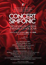 Concert simfonic sustinut de orchestra de camera a republicii Moldova