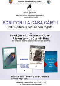 Lectură publică și sesiune de autografe: Scriitori la Casa Cărții