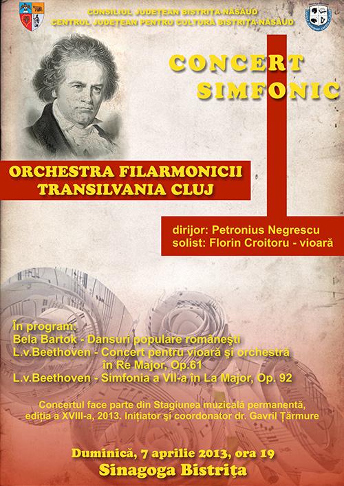 Poster Beethoven Filarmonica Transilvania