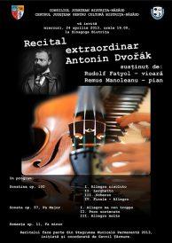Recital extraordinar Antonin Dvořák
