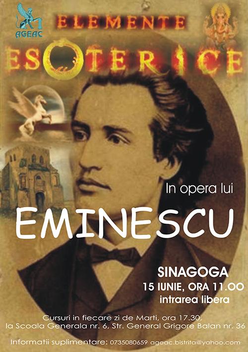Poster Elemente esoterice in opera lui Eminescu