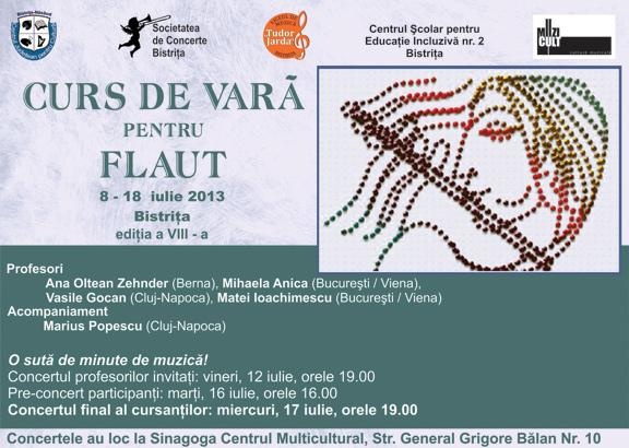 Afis cursuri de vară pentru flaut