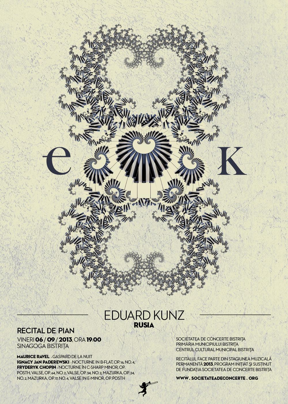 Poster recital de pian Eduard Kunz Bistrita 2013