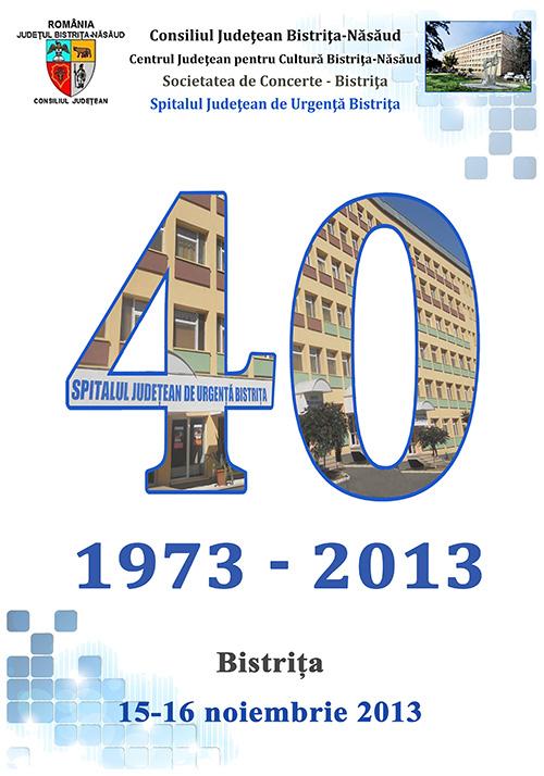 Poster Aniversar 40 ani Spitalul Judetean Bistrita
