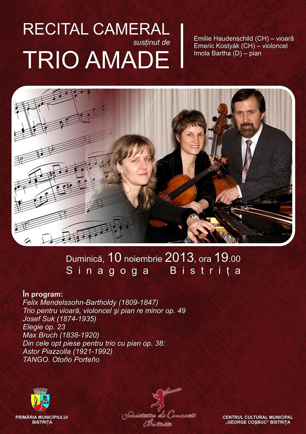 Poster Recital Trio Amade