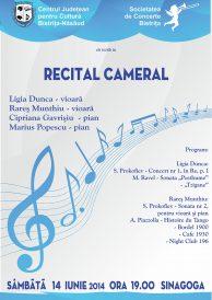 Recital cameral Rareș Munthiu (vioară) și Ligia Dunca (vioară)