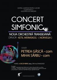 Concert simfonic susținut de Noua Orchestră Transilvană