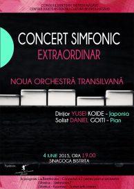 Concert simfonic extraordinar: Noua Orchestră Transilvană dirijată de Yusei Koide (Japonia)