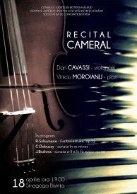 Recital cameral de violoncel și pian