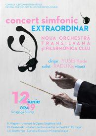 Concert simfonic extraordinar – Noua Orchestră Transilvană dirijată de Yusei Koide (Japonia)