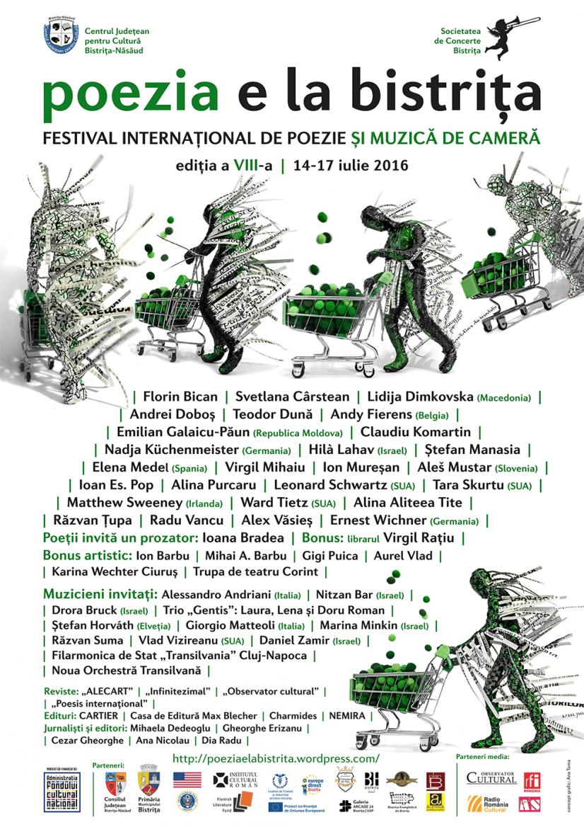 Poezia e la Bistrița 2016 – Festival internațional de poezie și muzică de cameră, ediția a VIII-a, 14-17 iulie