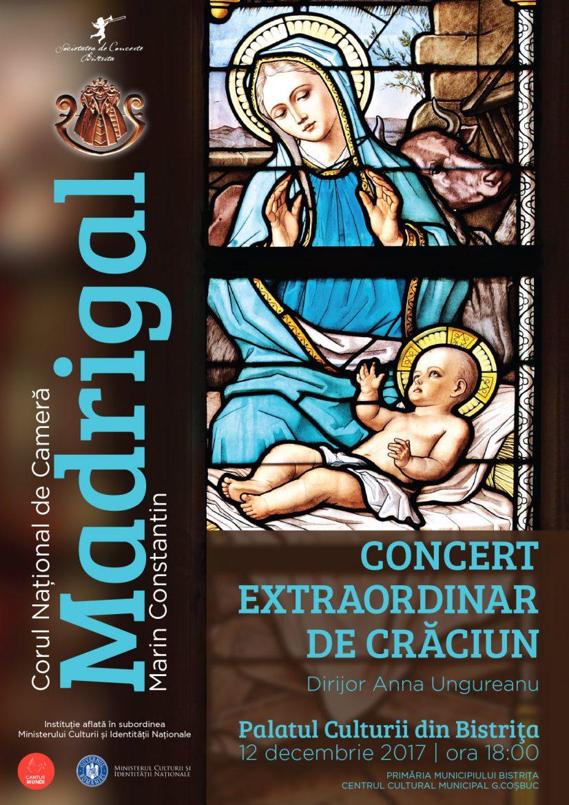 Concert extraordinar de Crăciun susținut de Corul Madrigal