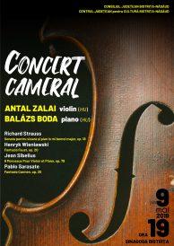 Concert Cameral: ANTAL ZALAI (vioară) și BALÁZS BODA (pian)