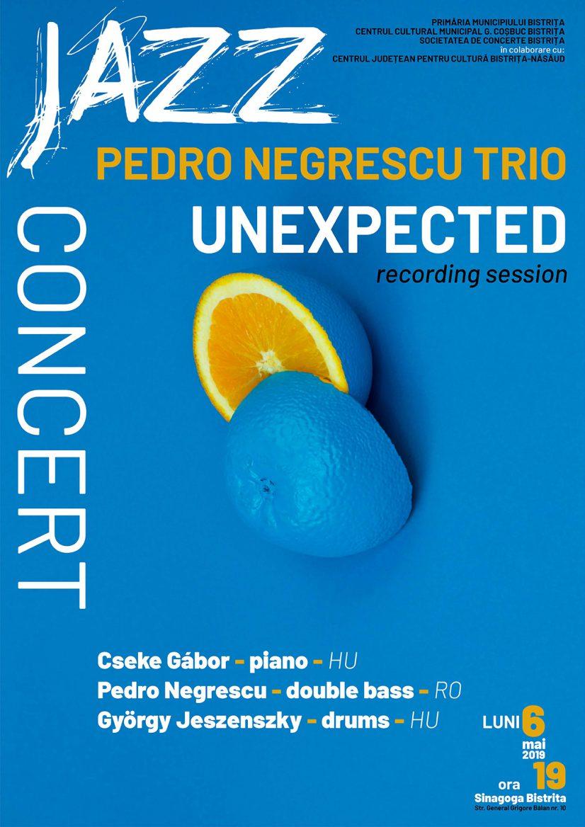 PEDRO NEGRESCU TRIO – UNEXPECTED – recording session