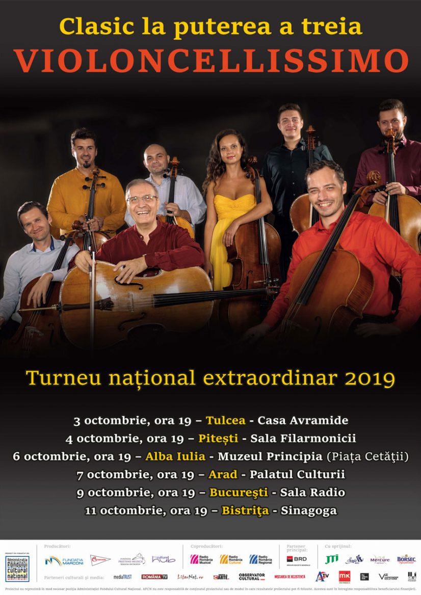 Turneul naţional extraordinar Violoncellissimo – Clasic la puterea a treia