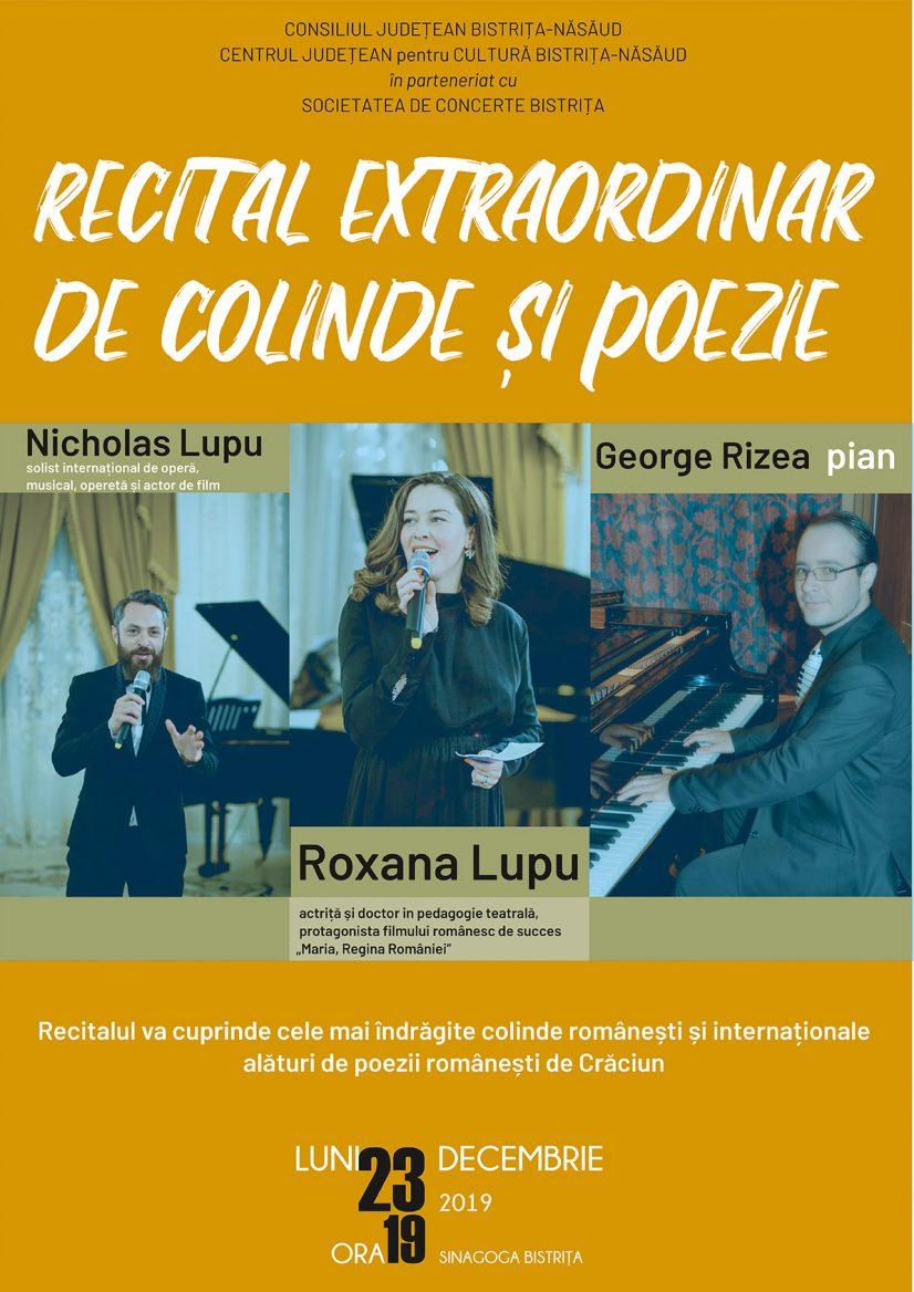 Concert extraordinar de colinde și poezie