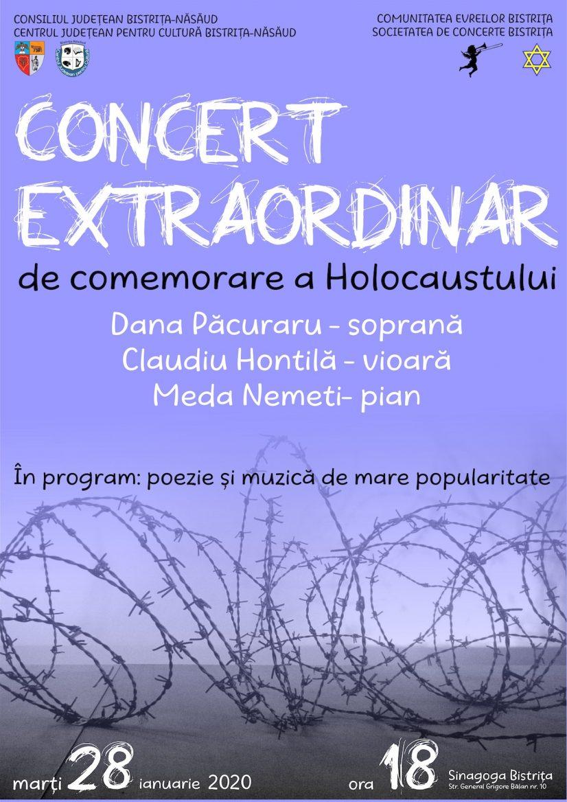 Concert extraordinar dedicat  Zilei Internaționale de Comemorare a Victimelor Holocaustului