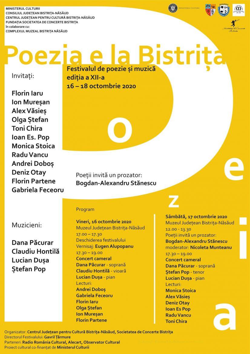 Festivalul de poezie și muzică: Poezia e la Bistrița – ediția a XII-a