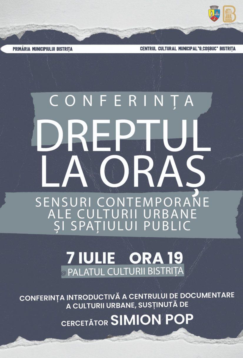 Poster conferință dreptul la oraș